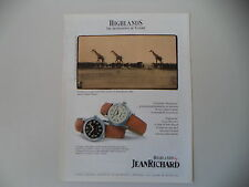 advertising Pubblicità 1998 JEANRICHARD JEAN RICHARD HIHLANDS