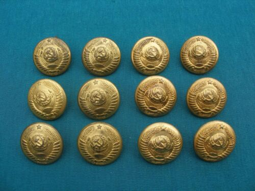Soviet Generals 1940-50/' s Set of 12 Russian Rare Type Buttons 16 Republics