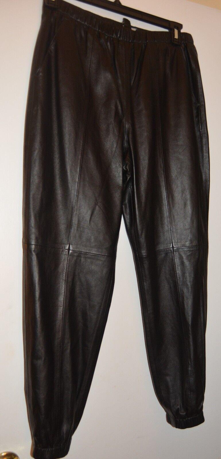 NWT St. John Caviar Leather Cropped or full Length Pants NWT  1795 SZ 10