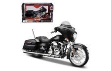 2015 Harley Davidson Street Glide Black Motorcycle Model 1/12 by Maisto 32328