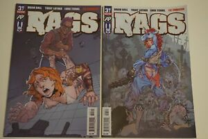 RAGS #3 EXPOSED VARIANT NM ANTARCTIC PRESS ZOMBIES