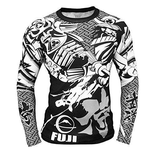 New Fuji Musashi Samurai MMA BJJ Jiu Jitsu LongSleeve Long Sleeve LS Rashguard