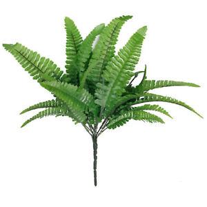 2X-1-x-Kunststoff-Kunstrasen-Gruen-Kuenstliche-Farn-Blaetter-Pflanze-fuer-Sta-KO
