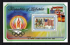 Liberia : 1992 Olympic Games Barcelona 92 Minisheet MNH