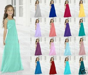 New-chiffon-Princess-Flower-Girl-dress-Junior-Wedding-Bridesmaid-dress-2-14years