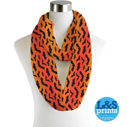 Infinity Scarf Jersey Or Chiffon Halloween Bats Unisex Fashion Loop Scarves