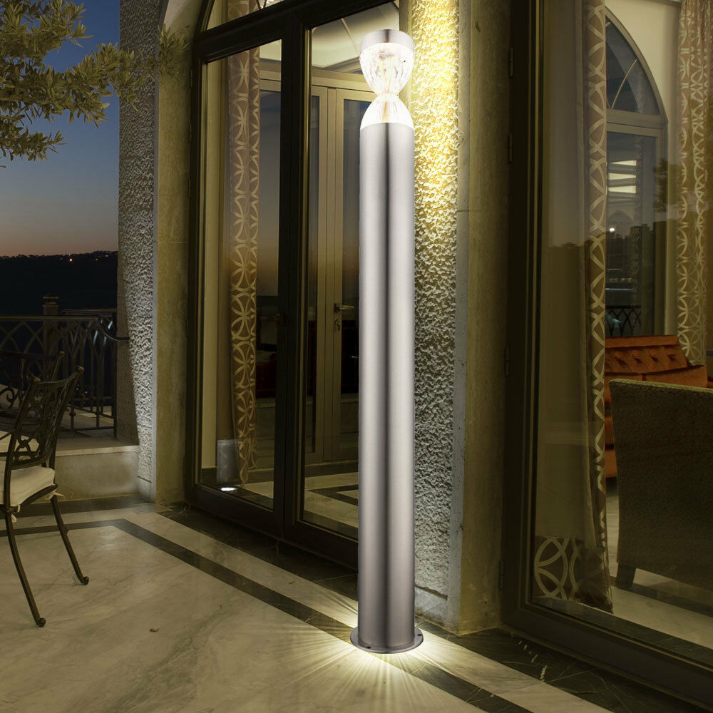 Luxury outdoor LED standing stand light plot stainless steel porch lighting