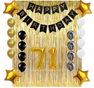 71st Happy Birthday Banner Birthday Decorations for Men Birthday Party Decorations Birthday Backdrop