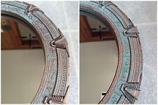 Patina Stargate Mirror Large - SG1 or Atlantis - 12 inches (30 cm).