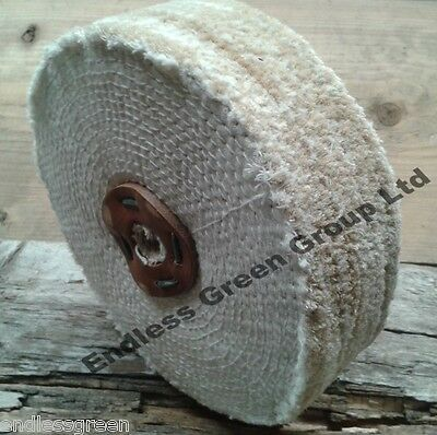 S150//1 SISAL Buffing Wheel 150mm x 1 Section Coarse grade for cleaning metal