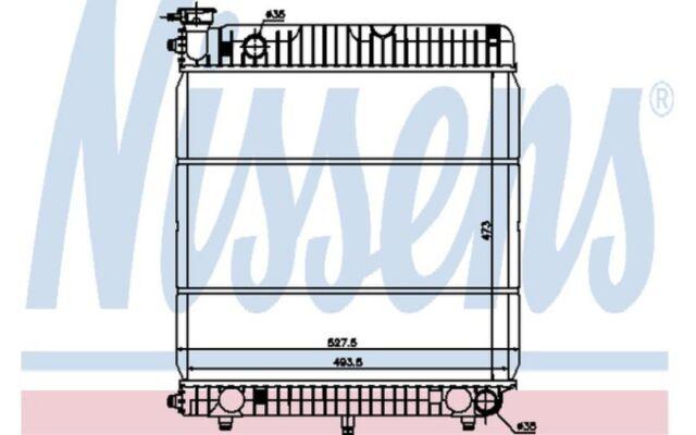 NISSENS Radiador, refrigeración del motor MERCEDES-BENZ T1 T1/TN 62635