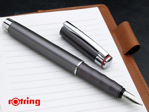 Rotring Fountain Pen Special  Edition Esprit Telescopic Graphite  New In Box *