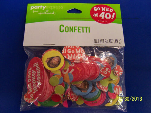 Monkey Over Hill 40th Birthday Party Decoration Printed Confetti Go Wild at 40