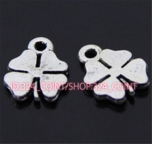 P308 30pc Tibetan Silver clover Charm Beads Pendant accessories wholesale