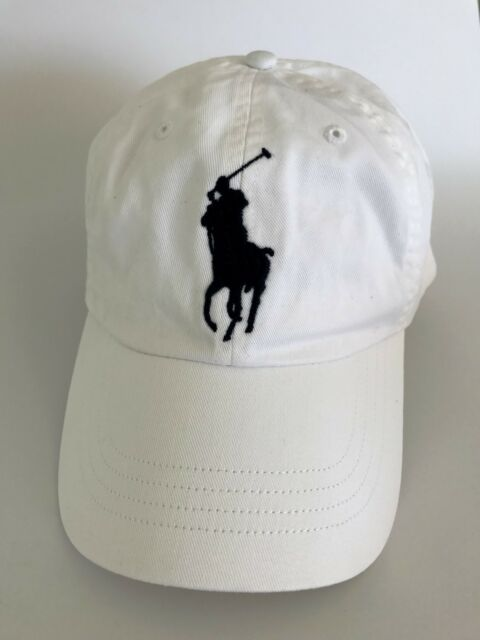 100% AUTHENTIC MENS DESIGNER POLO RALPH LAUREN COTTON CHINO SPORTS CAP WHITE b5d34c4d11c5