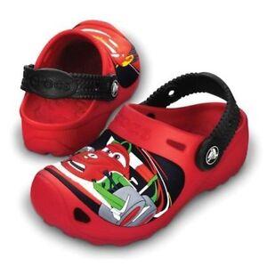 NEW!!! Crocs Disney Cars 2 custom red