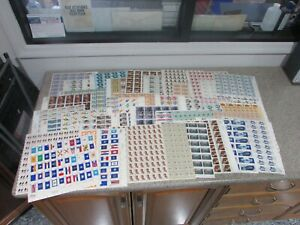 *$Mint US discount postage lot 9-15c stamps, full sheets, face value $337.24