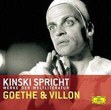 Klaus Kinski Spricht Goethe und Villon / DEUTSCHE GRAMMOPHON CD 2003