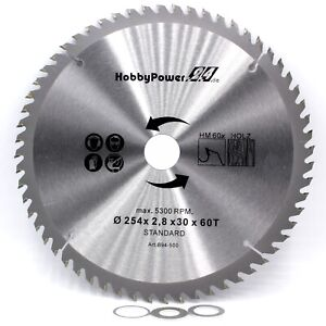 1x-HM-Kreissaegeblatt-Saegeblatt-fuer-Metabo-Kappsaege-KS-254-Plus-254x30mm-60Z
