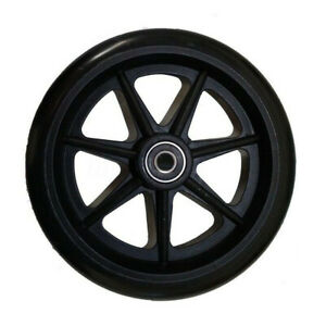 Wheelchair-Replacement-Black-Wheels-6-Inch-1-Set-Urethane-Mobility-Accessory