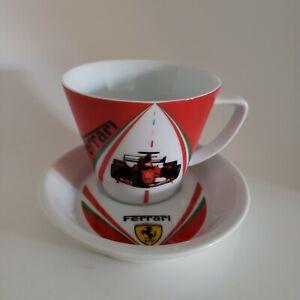 FERRARI-F1-World-Champions-Cup-amp-Saucer-Set-EUC