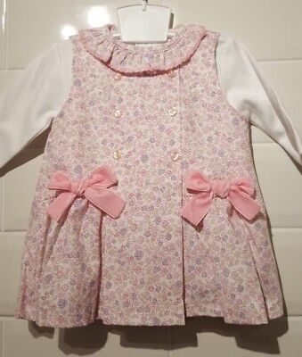 Beautiful Spanish Style Baby Girls 2 Piece Floral Dress