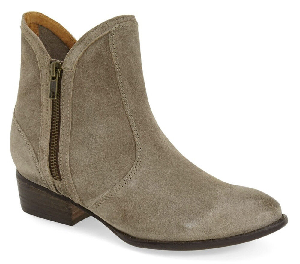 NIB Seychelles Lucky Penny Taupe Suede Faux Fur Ankle avvio Double Zip Dimensione US 7