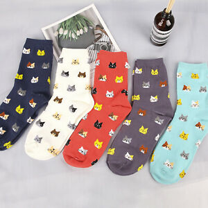 1-Pair-Cute-Cartoon-Animal-Cat-Print-Soft-Socks-Women-Girl-Starry-Night-Socks