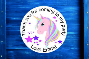 Personalised-Unicorn-Round-Gift-Bag-Sticker-Label-Seal-Sweet-Cone-in-4-Sizes