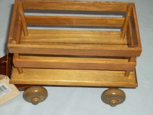 New Cart Vintage Crowne Doll Accessories Doll Size Wooden Pull Behind Wagon