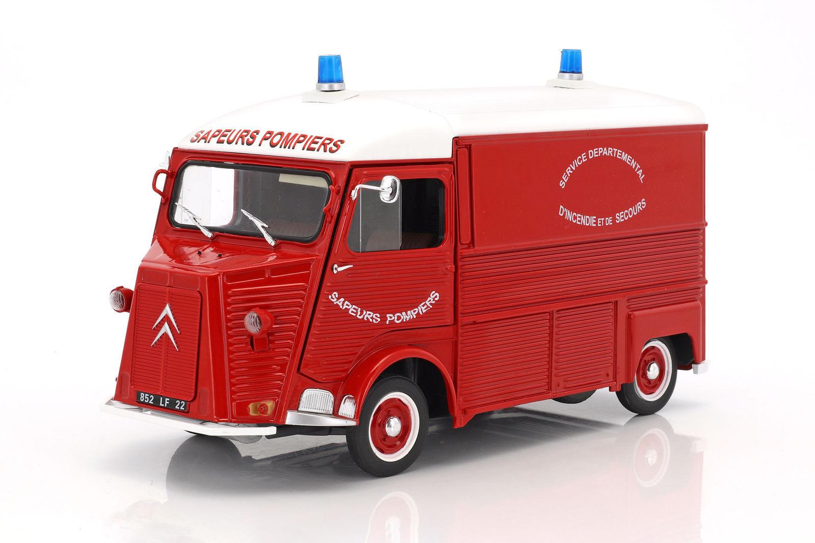 Solido 1,18 druckguss furgoncino camion citroën typ von pompier 1969 kunst s1850013