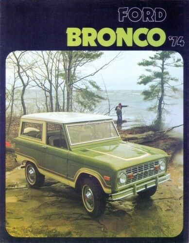 BRONCO 1974 Sales Brochure 74