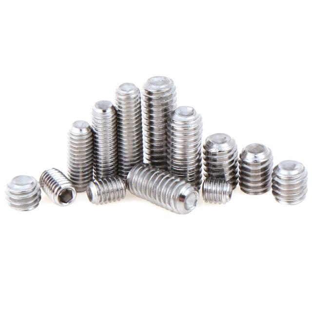 10 PCS 304 Stainless Hexagon Socket M3X10 Set Screw for pulley wheel coupler