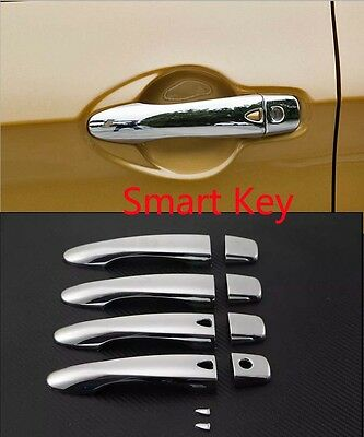Chrome door handle cover trim For 2014-2017 Nissan Qashqai Smart Keyhole