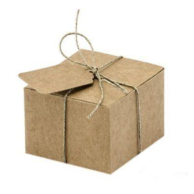 10x Geschenkschachteln Geschenkanhänger Kraft Hochzeit Gastgeschenk Geschenkbox
