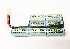 Custom-Airsoft-RPK-Ni-CD-8-4v-3300mAh-Battery-w-Large-Tamiya-Free-Shipping