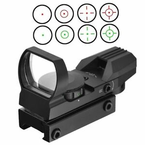 Compact-point-Reflex-Red-Green-Dot-rouge-Sight-Scope-4-Reticle-11mm-for-Hunting