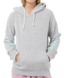 NEW-TAG-BILLABONG-GIRLS-8-ZEPHYR-HOODIE-JUMPER-FLEECE-PULLOVER-GREY-MARLE