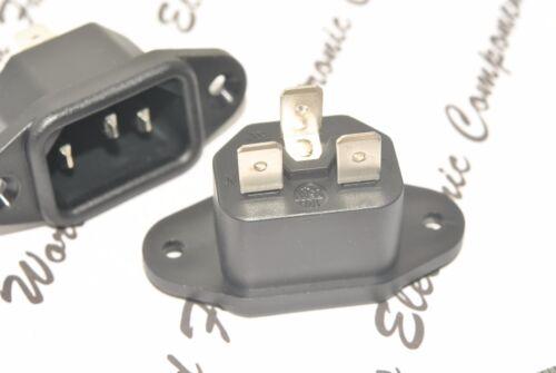1pcs 6162.0058 SCHURTER IEC Inlet C14 Socket AC 10A 250VAC