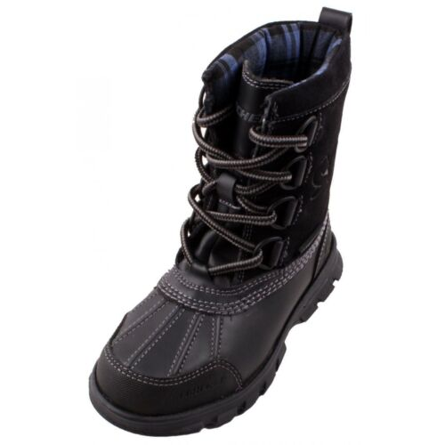 New Boy/'s Toddler Skechers-Liam Lovato High Ankle Winter Boots Black 93867N C27