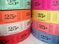 25 Cents Single Roll Tickets (2000 Tickets Per Roll)