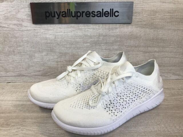 Nike Free RN Flyknit 2018 Running Shoe White 942838-103 Men's Size 7 / Wmns 8.5