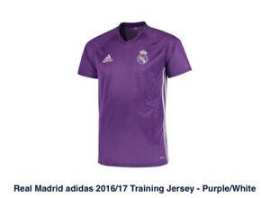ADIDAS Real Madrid Training Jersey - Purple/White Men's XL - Rare ...