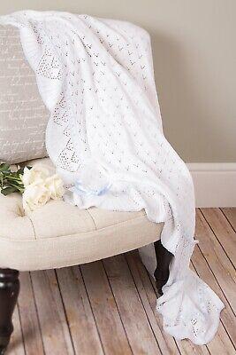 Sarah Louise Bautizo Chal estilo 00028 Nuevo con etiquetas-Talla Blanco