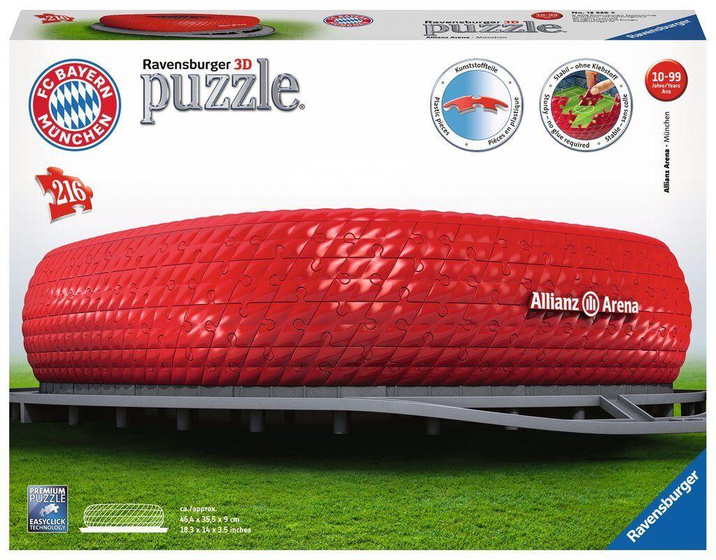 RAVENSBURGER3D PUZZLE PUZZLE PUZZLE BAUWERKALLIANZ ARENA216 TEILENEU+OVP 151533