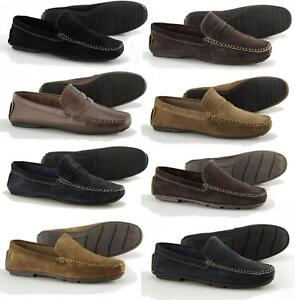 Catesby-Shoemakers-4611-Mens-Suede-Casual-Slip-On-Moccasin-Driving-Loafers-Shoes