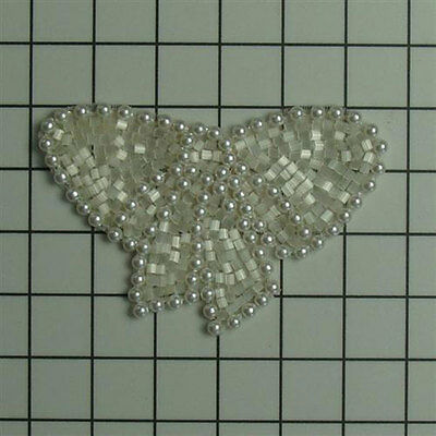 AMERICAN PEARL GEM BOW BEADED APPLIQUE 0655-L