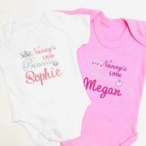 Daddy/'s Princess Name Embroidered Baby Cotton Dress Gift Personalised Girl