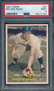 1957-Topps-Baseball-Pee-Wee-Reese-30-PSA-9-DODGERS-MINT-HOF