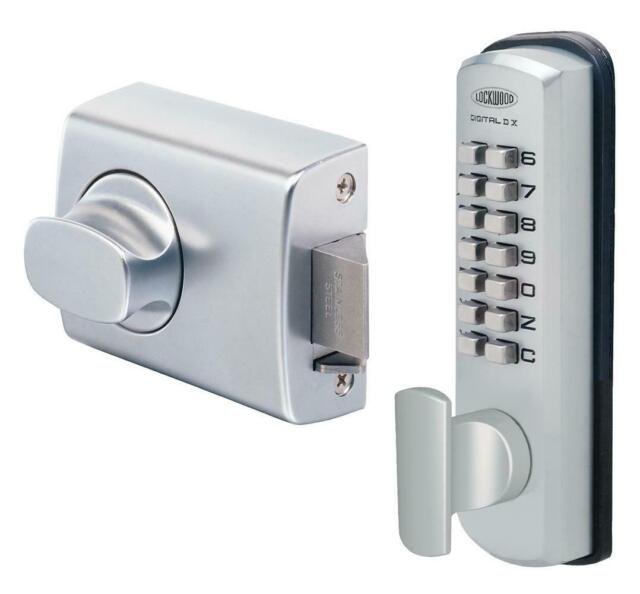 Lockwood Digital Lock Keyless DX Deadlatch 002 Knob Timber Frame 002-1KDXSC